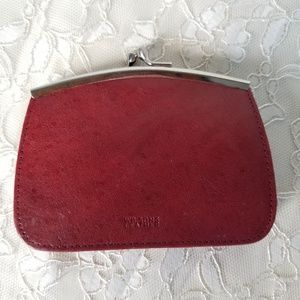 Wilson Red Leather Vintage Wallet Coin Purse